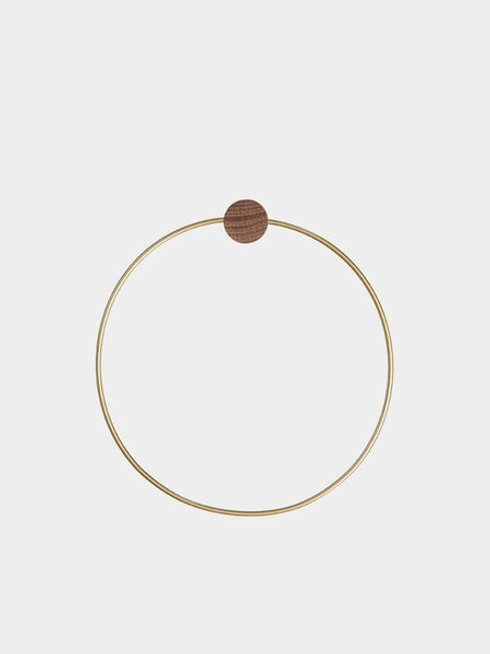 Brass Circular Towel Hanger by ferm Living