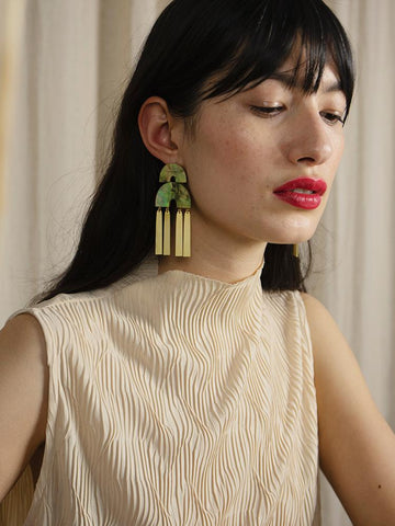 Cecilie Statement Earrings - Mother of Pearl - various - by Wolf & Moon