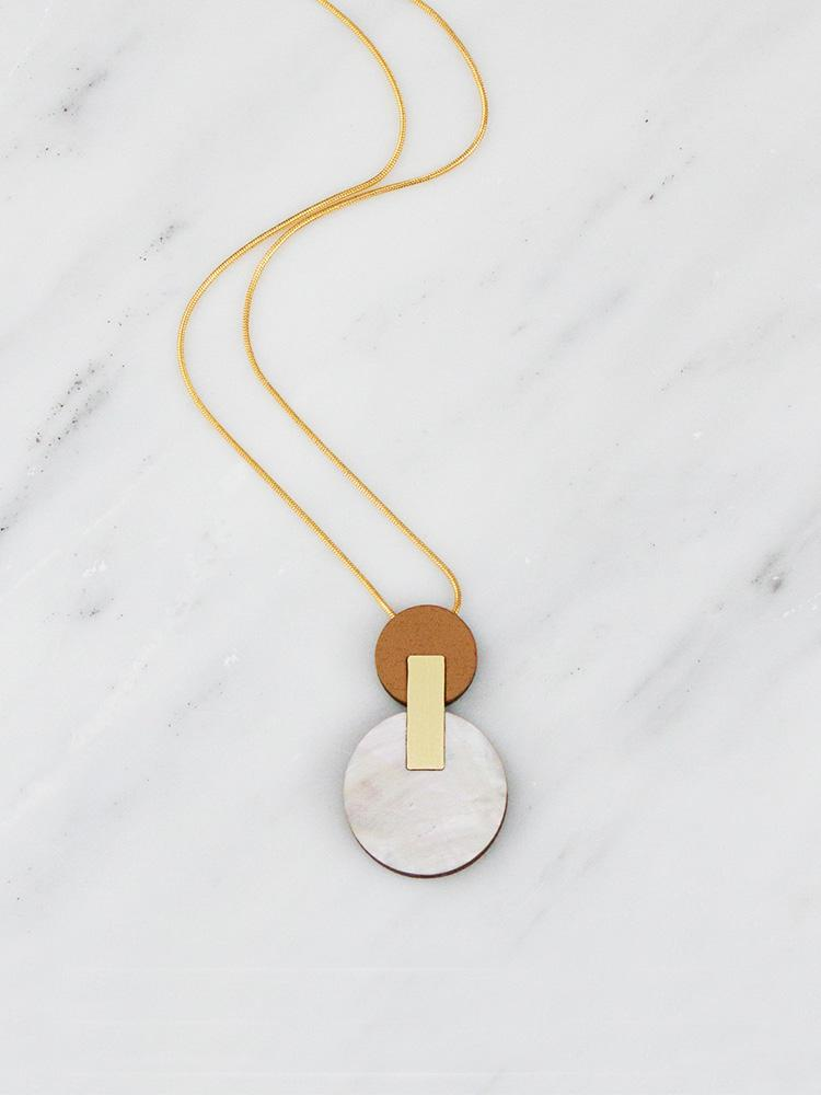 Celeste I necklace in Mother of Pearl by Wolf & Moon