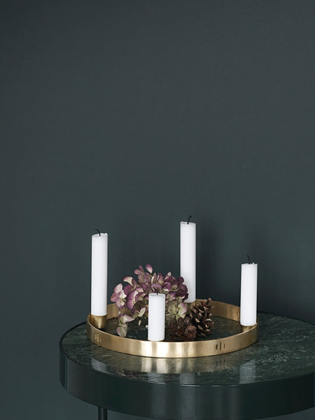 Brass Candle Holder Circle Small by ferm Living