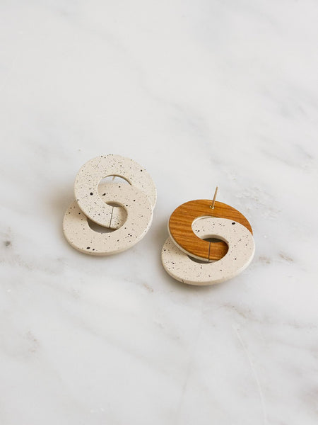 Cleo earrings in Eggshell by Wolf & Moon
