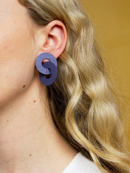 Cleo earrings in Blueberry by Wolf & Moon