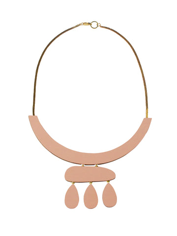 Cloud Necklace in Blush & Brass by Wolf & Moon