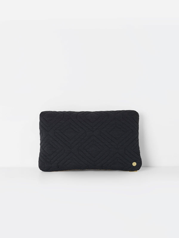 Quilt cushion - Dark Grey - by ferm LIVING
