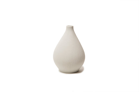 Small Bud Vase 'Kobe' In White by Lindform