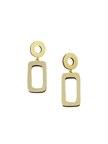 Ellsworth Drop Earrings in brass by Wolf & Moon