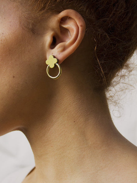 Elsa Studs - Chartreuse Green by Wolf & Moon