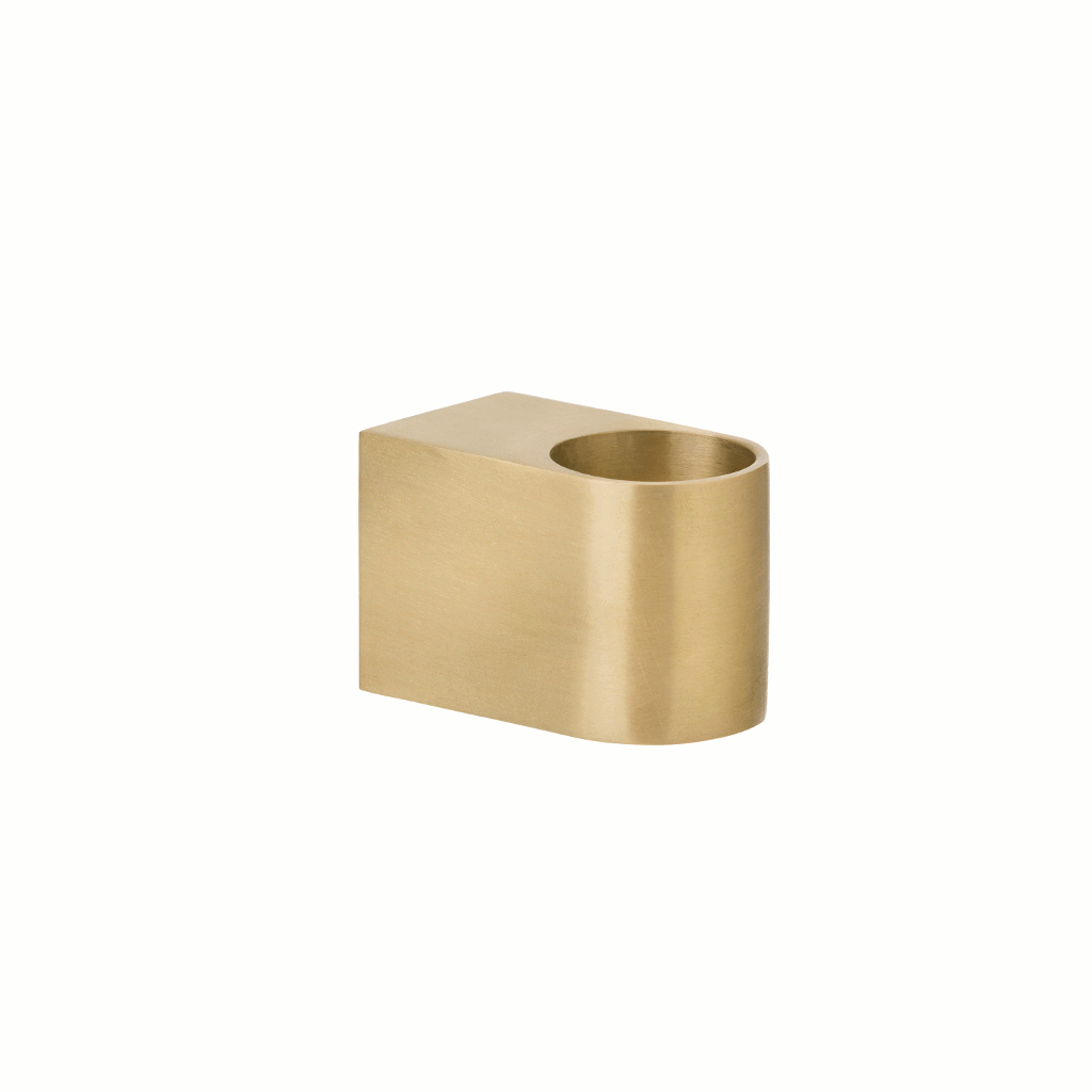 Image of brass block candle holder by fermLIVING