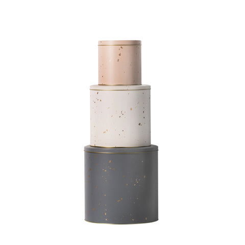 Image of 3 confetti tins by ferm Living