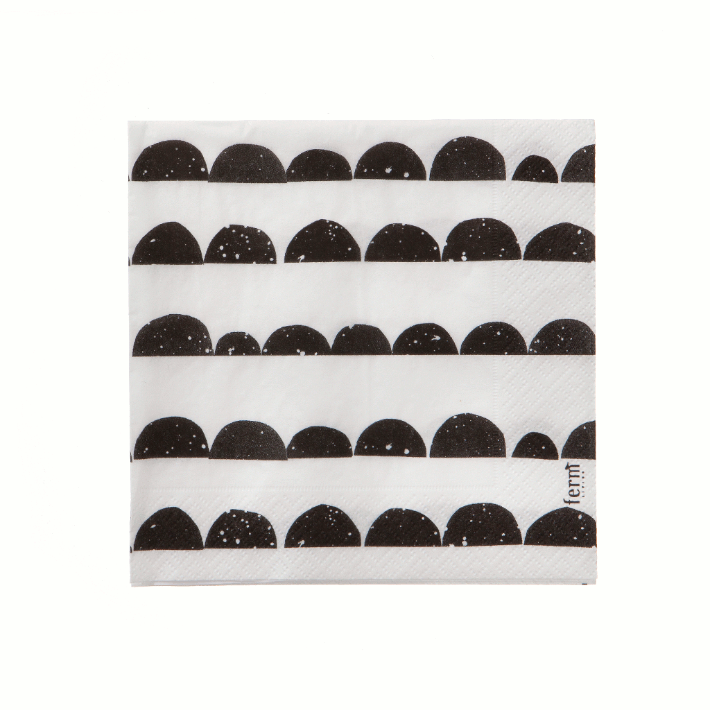 Half-moon paper napkins by ferm LIVING