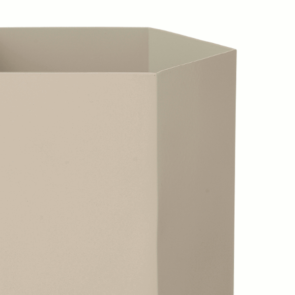 Close up image of extra large grey planter by fermLIVING