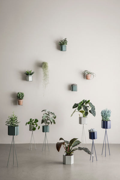 Context image of extra large grey planter by fermLIVING