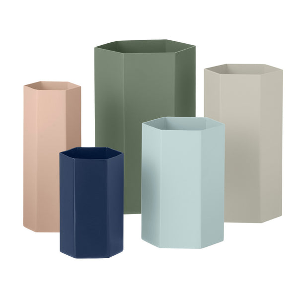 Context image of hexagonal rose vase by ferm LIVING