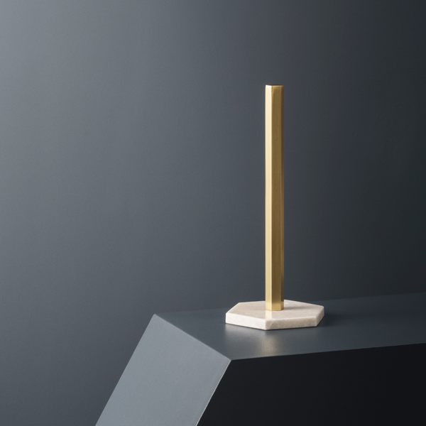 Context Image of kitchen roll holder in brass and marble by fermLIVING