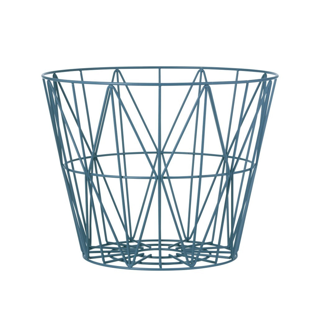 Image of Navy blue wire basket by fermLiving