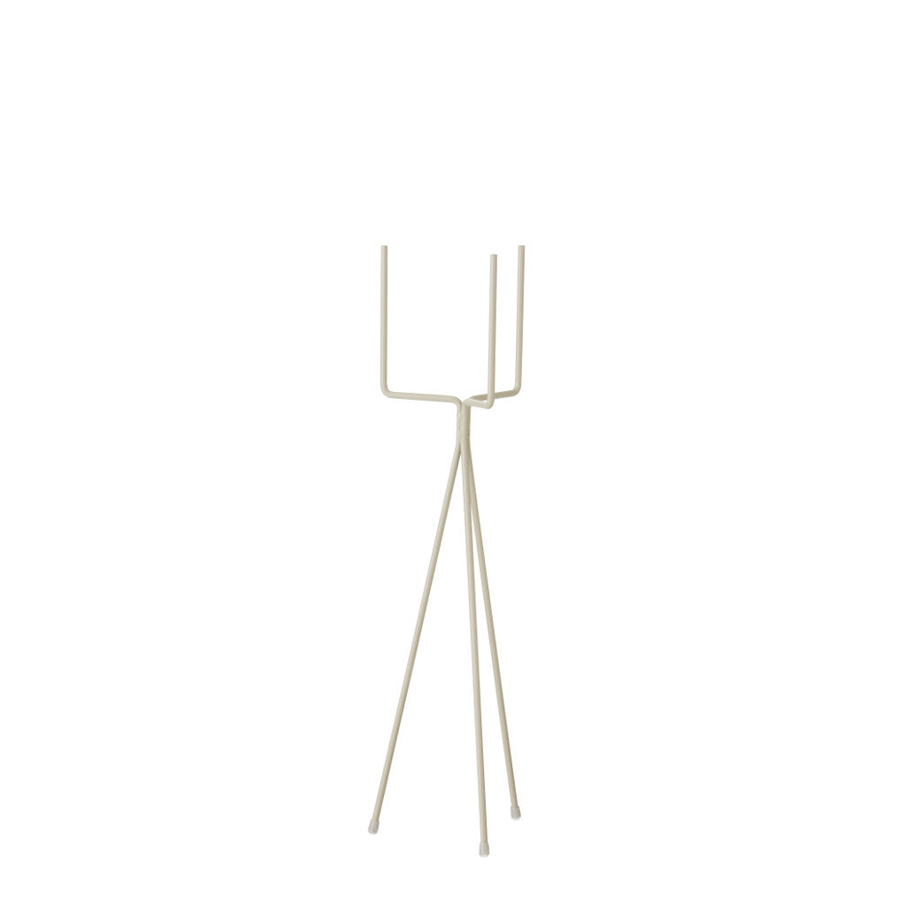 Image of small grey plant stand by ferm living