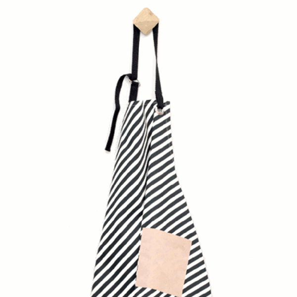 Close up Image of striped apron by fermLIVING