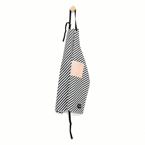 Image of striped apron by fermLIVING