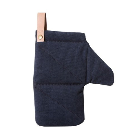 Organic Cotton Canvas Oven Glove in navy by ferm LIVING