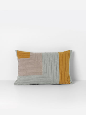 Angle Knit Cushion - Curry - by ferm LIVING