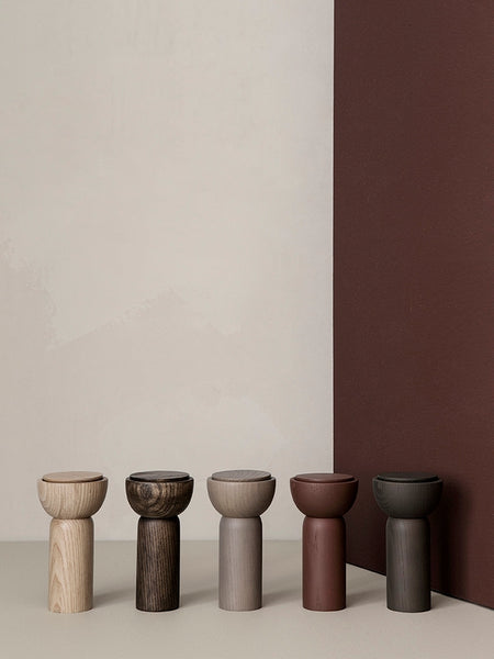 Drupe pepper or salt mill in grey ash wood by ferm Living