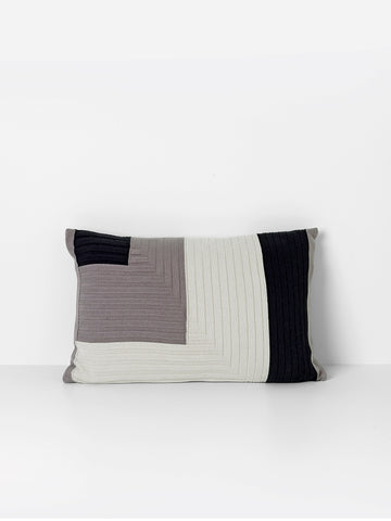 Angle Knit Cushion - Grey - by ferm LIVING