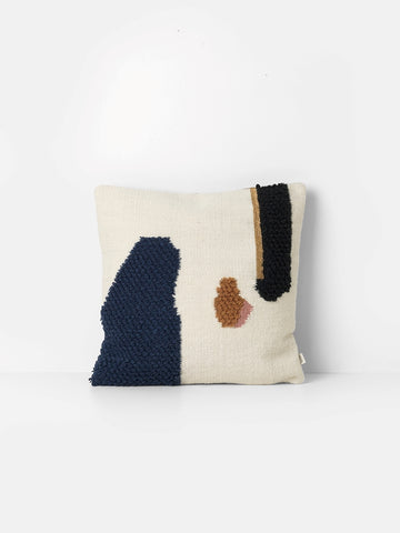 Loop cushion 'Mount' in cream & navy by ferm LIVING