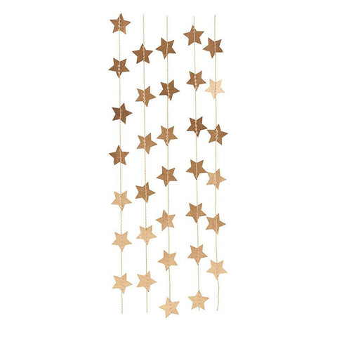 Garland with gold stars by House Doctor