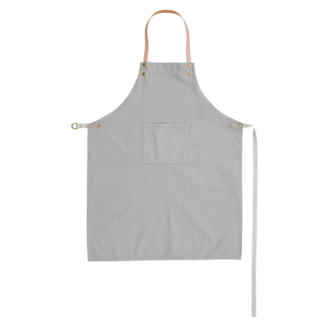 Apron in organic cotton grey by ferm LIVING
