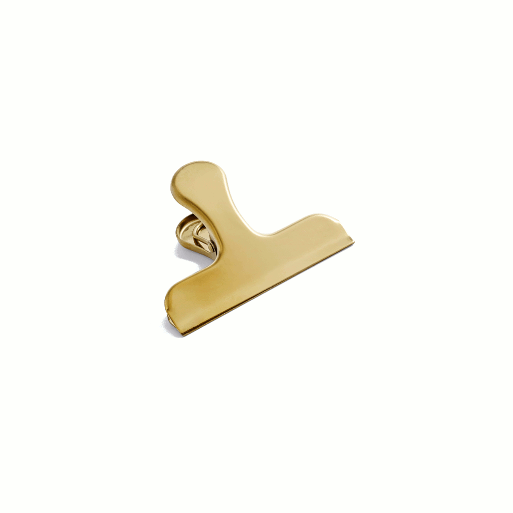 Clip clip Bulldog w/ Handle - brass by HAY