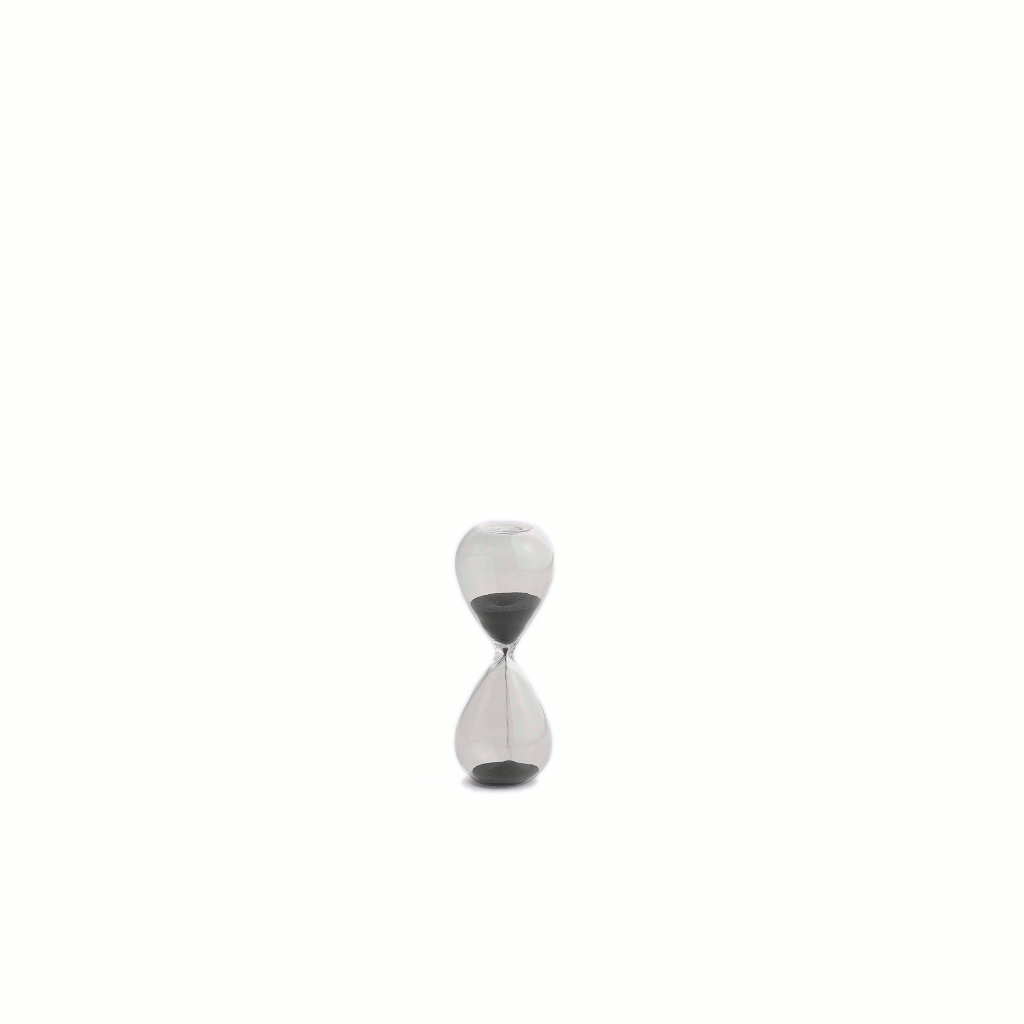 Time - 3 minute egg timer - Small - Black by HAY