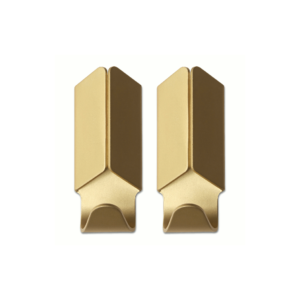 Gold coloured Volet hooks by Hay