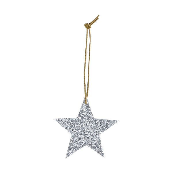 Star with Silver Glitter Christmas decoration by House Doctor