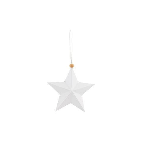 Ornament, Star, White, 12 cm by House Doctor