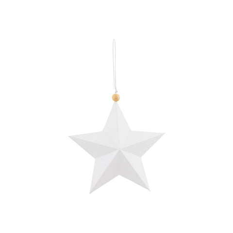 Ornament, Star, White, 15 cm by House Doctor