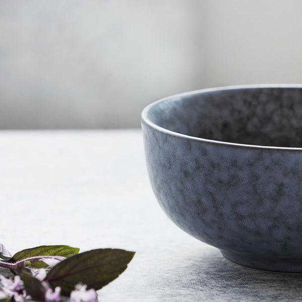 Bowl, round, grey/blue stone by House Doctor