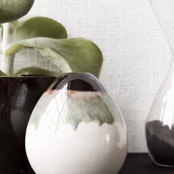 Mocha vase - small - bulb - by house doctor