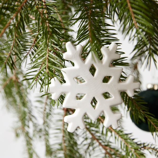 Snowflake, White, Ornament by House Doctor