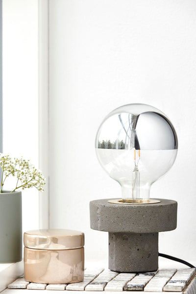 Table lamp in concrete by House Doctor