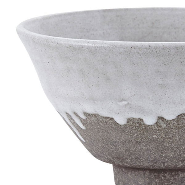 Close up product image of small bowl with running glaze by house doctor