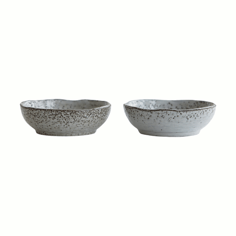 Rustic grey dipping bowls by House Doctor