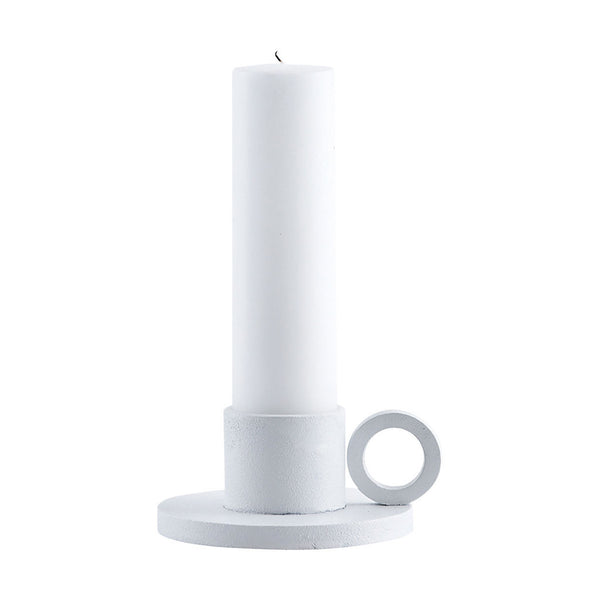 Product image of the ring candle holder in white by House Doctor