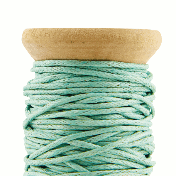 Close up image of Mint green waxed cord by House Doctor