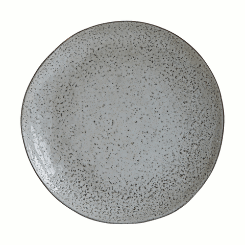 Image of grey rustic dinner plate by house doctor