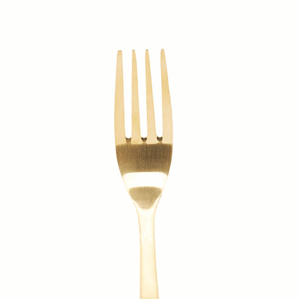 Close up of Gold plated fork by House Doctor