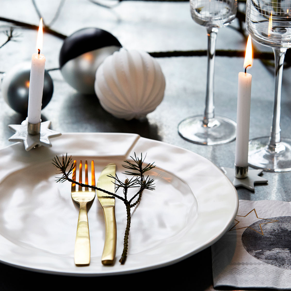 Place setting with Gold plated fork by House Doctor