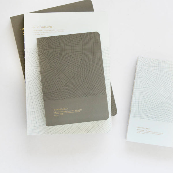 Context image of monograph notebook in dark grey by house doctor