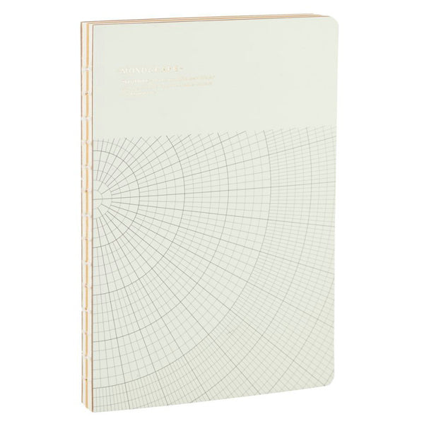 Large light grey notebook by monograph