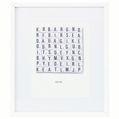 Illustration Scrabble Words - white oak frame by House Doctor