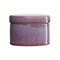 Jar w/ lid bordeaux/blue by House Doctor
